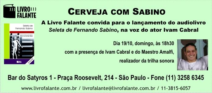 Livro Falante convida para o evento Cerveja com Sabino