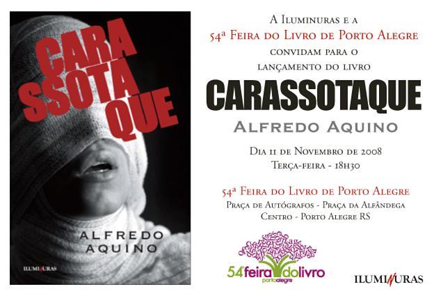 CARASSOTAQUE, novo romance de Alfredo Aquino