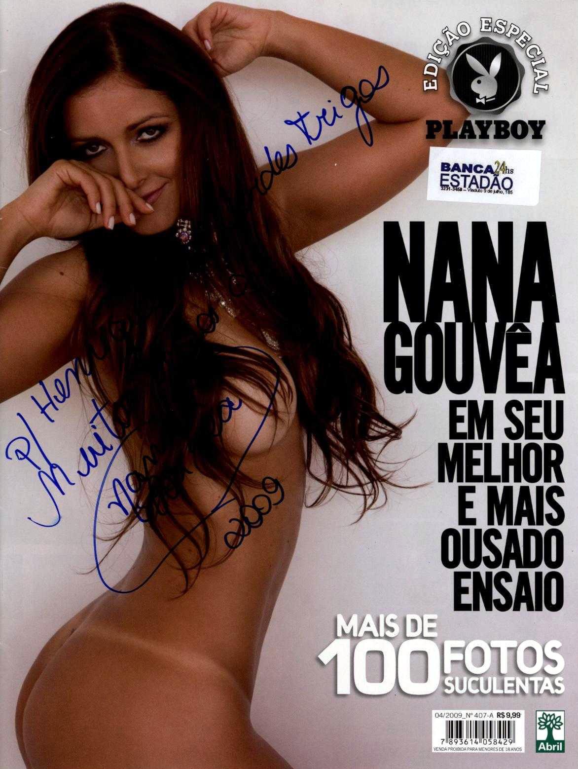 Nana Gouvea - autografo especial na Revista de Abril